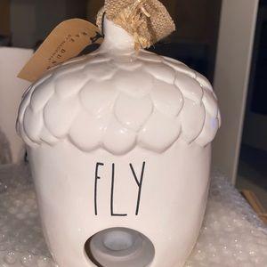 Rae Dunn FLY acorn birdhouse